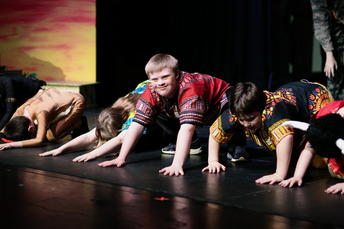 Lion King performance Starcatchers special needs students and adults
