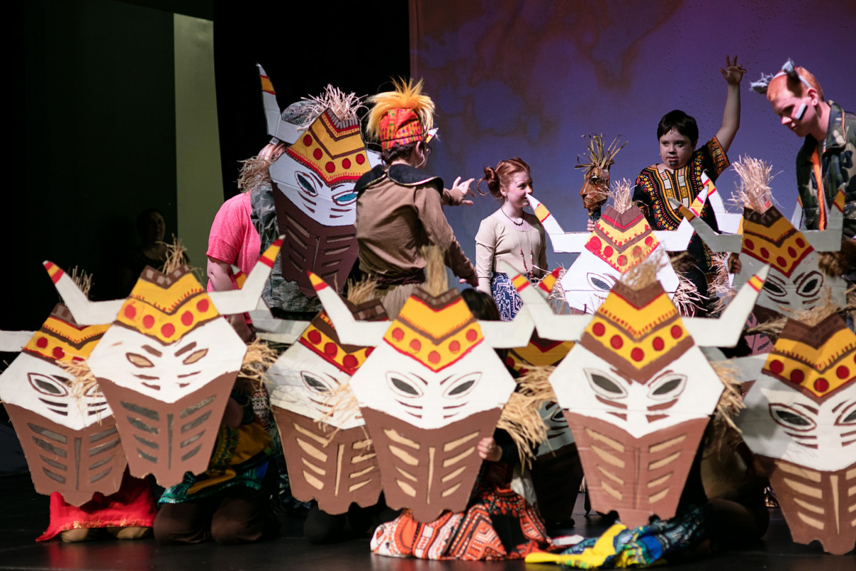 NTPA Starcatchers students with special needs perform dance number with masks