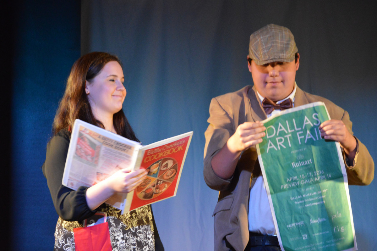 Man and woman with special needs perform in Starcatchers theatre show