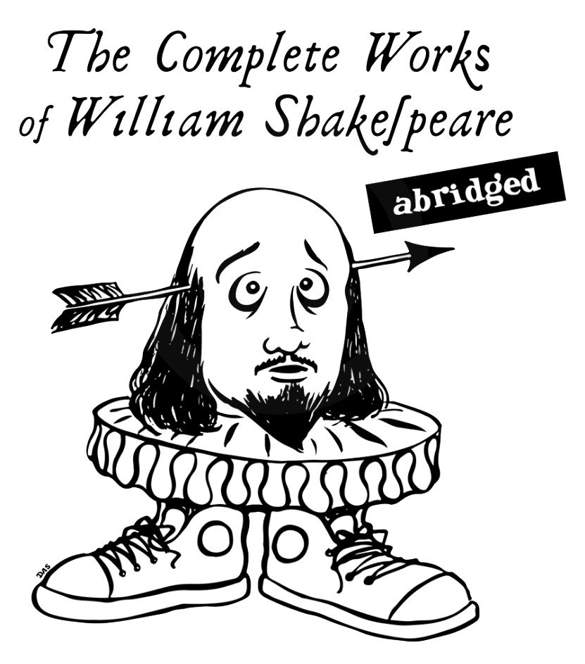 the complete works of william shakespeare abridged logo