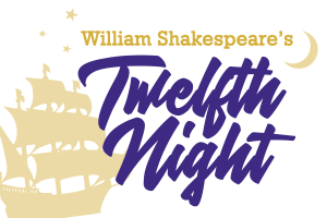 Shakespeare's Twelfth Night logo presented by NTPA