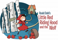 Roald Dahl's Little Red Riding Hood skipping to grandmother's house