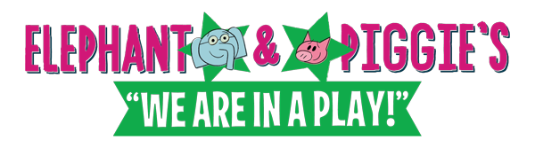 Elephant and Piggie's We Are in a Play! logo