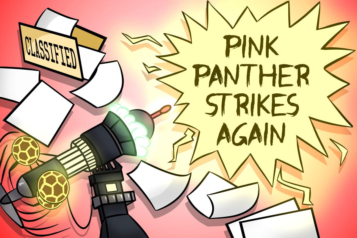 pink panther strikes again logo