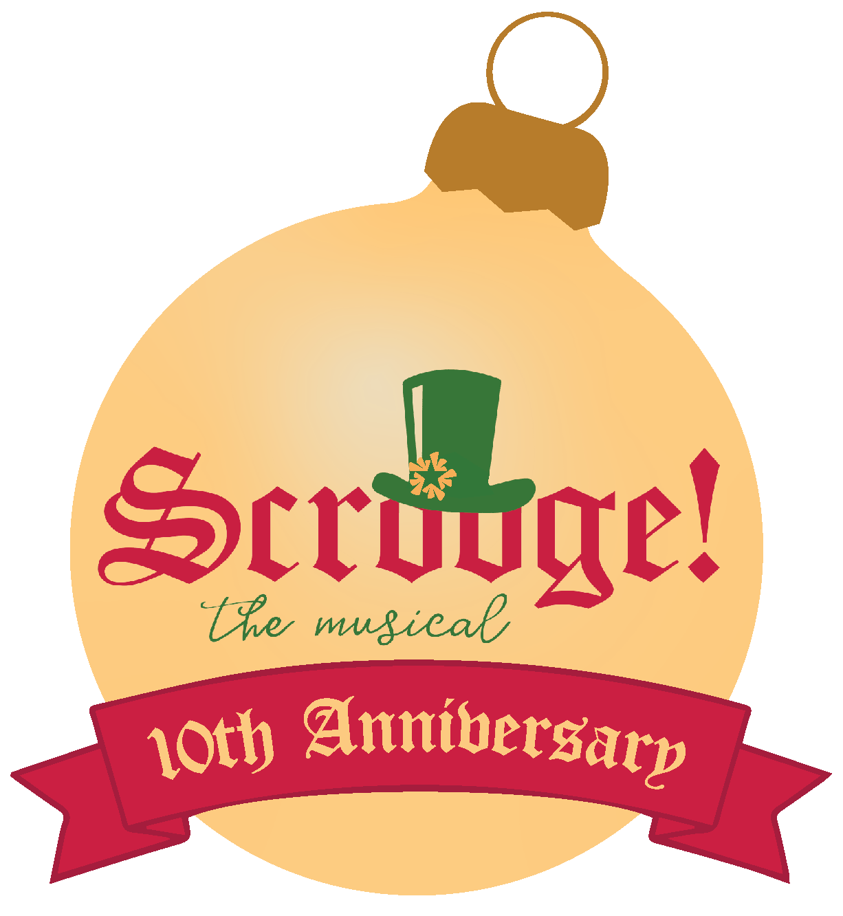 Scrooge the Musical - NTPA 10th Anniversary Production logo