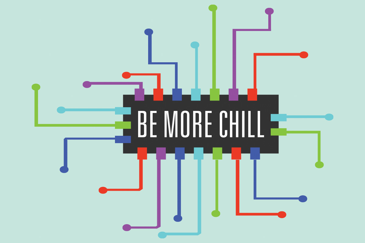 be more chill logo