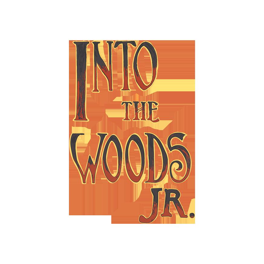 Sondheim's Into the Woods Jr vertical logo