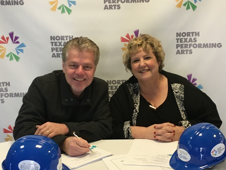 Picture of Darrell Rodenbaugh, CEO, and Sara Akers, Vice President of Development and Founder of Plano Children's Theatre.