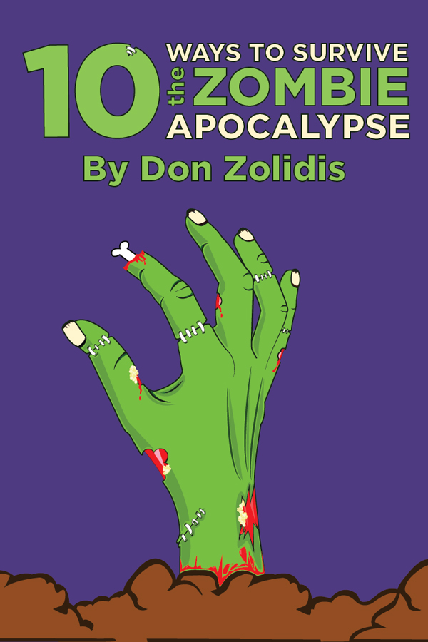 Don Zolidis' 10 Ways to Survive the Zombie Apocalypse logo