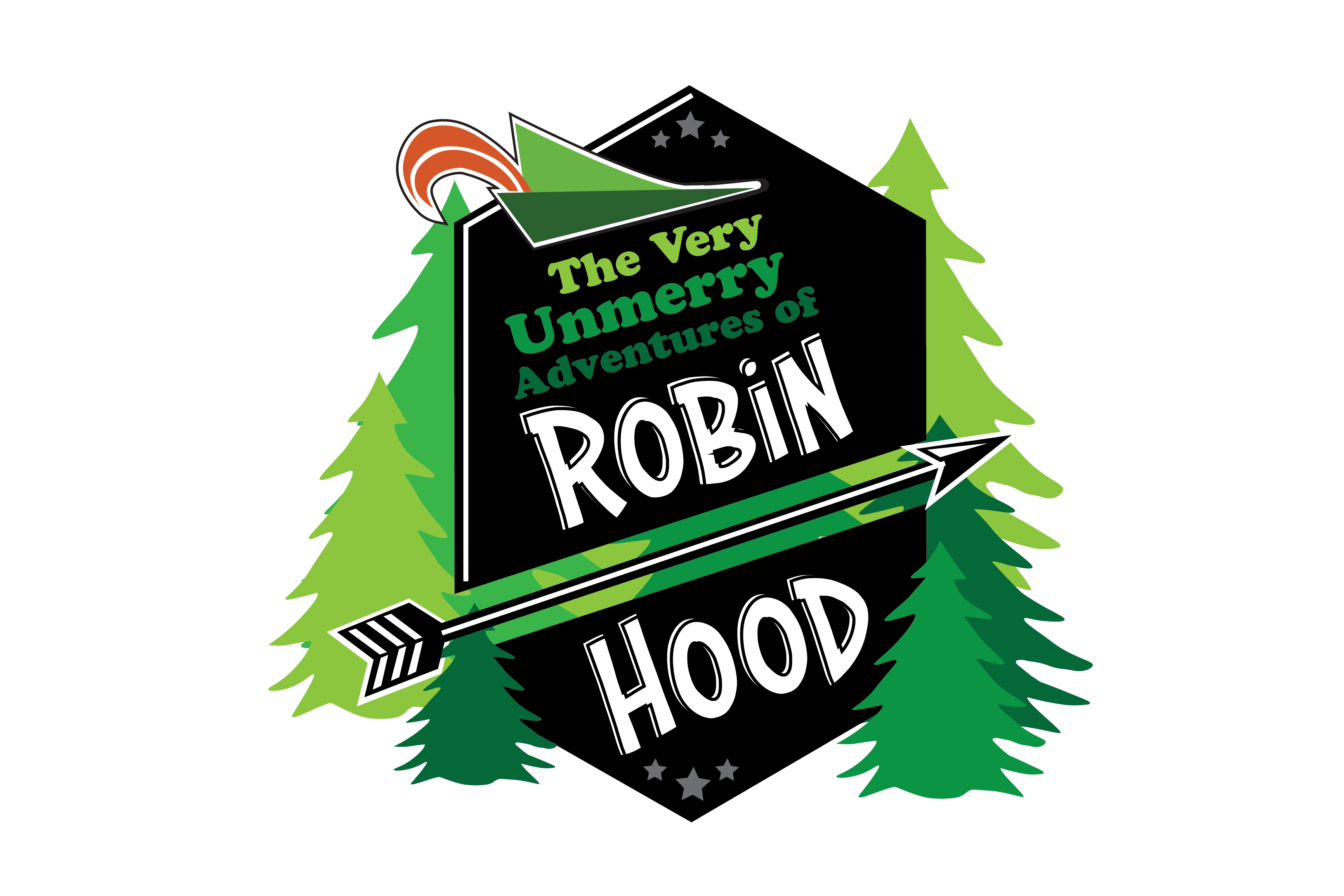 Patrick Greene and Jason Pizzarello's The Very UnMerry Adventures of Robin Hood logo