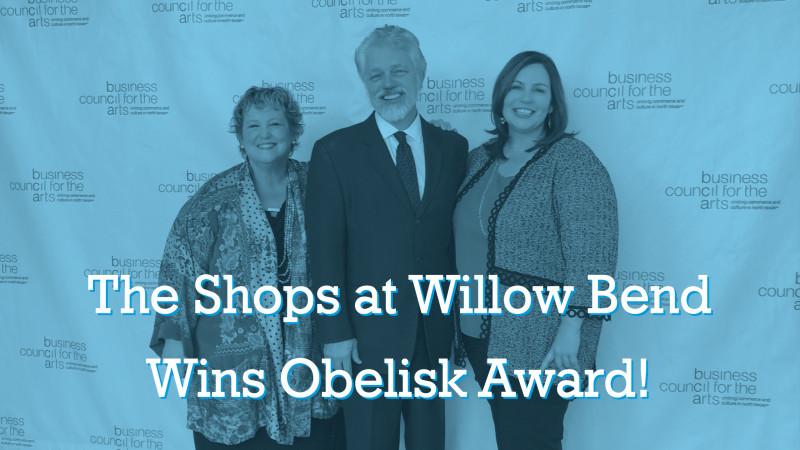 obelisk award ntpa the shops at willow bend