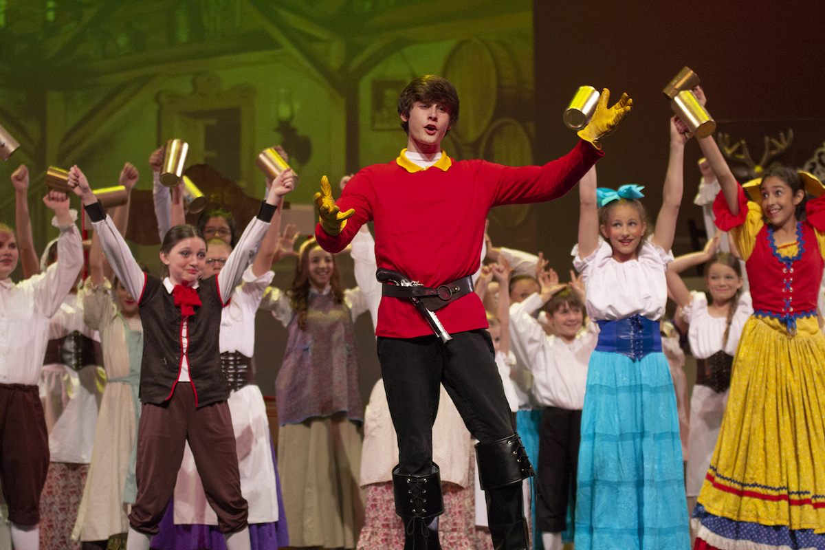 Gaston and ensemble - Beauty and the Beast NTPA - Dallas