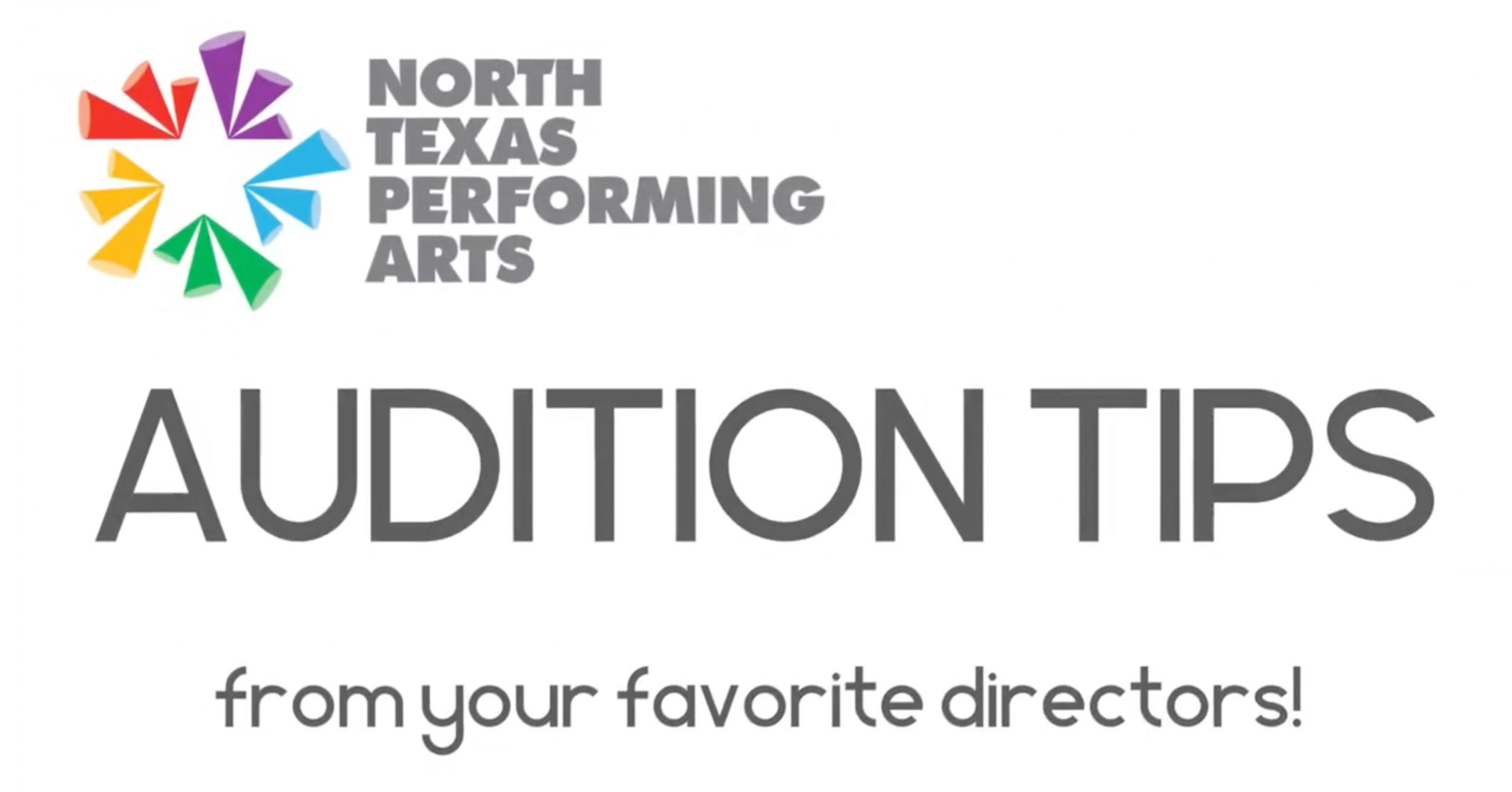 north texas performing arts logo audition tips