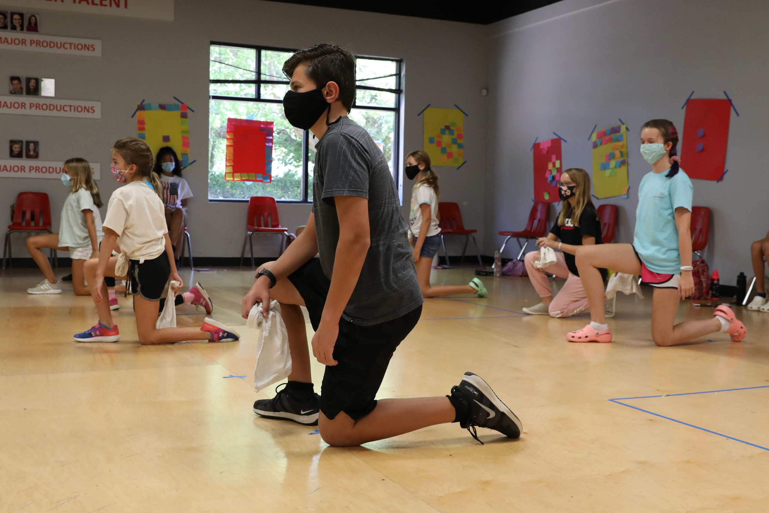 Dance Rehearsal with Masks