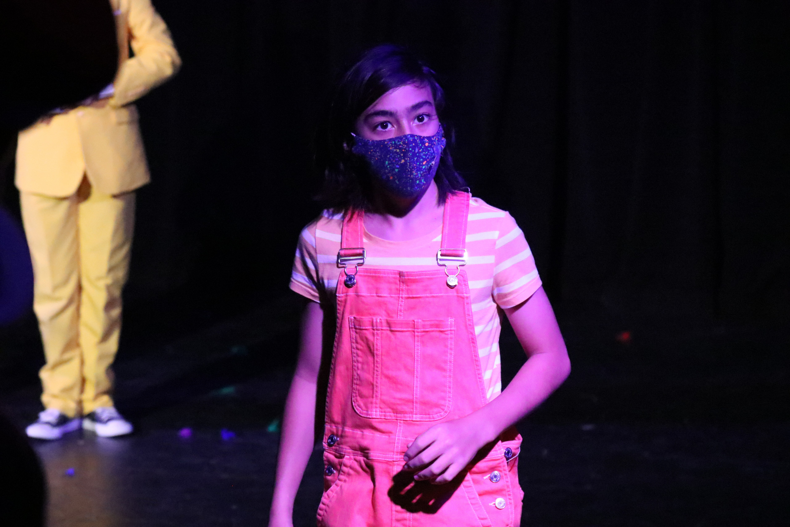 NTPA Actor performing in safety mask