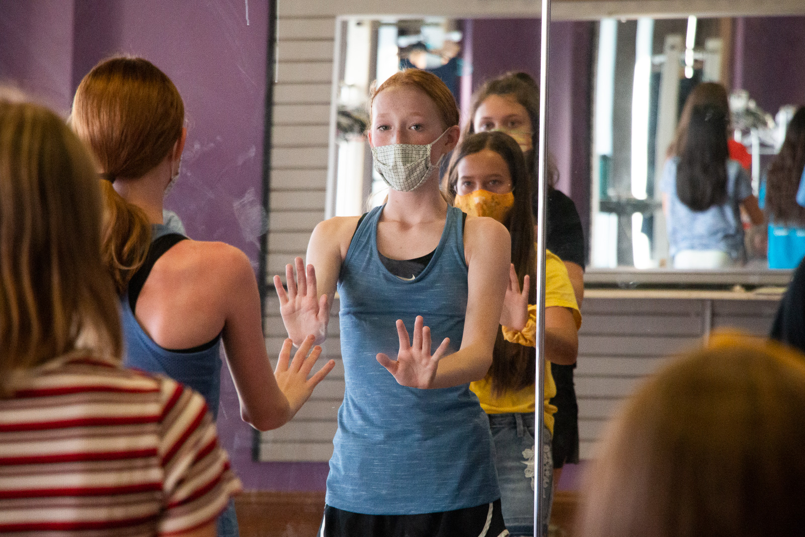 Dance Rehearsal at NTPA - Fairview with Masks