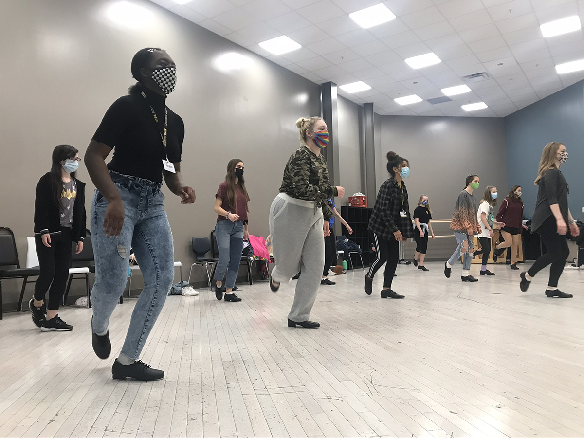 NTPA Academy students perform tap sequence with instructor Riley Madlock