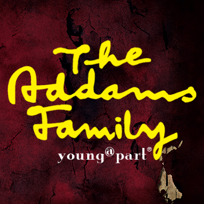 The Addams Family Young @ Part Logo