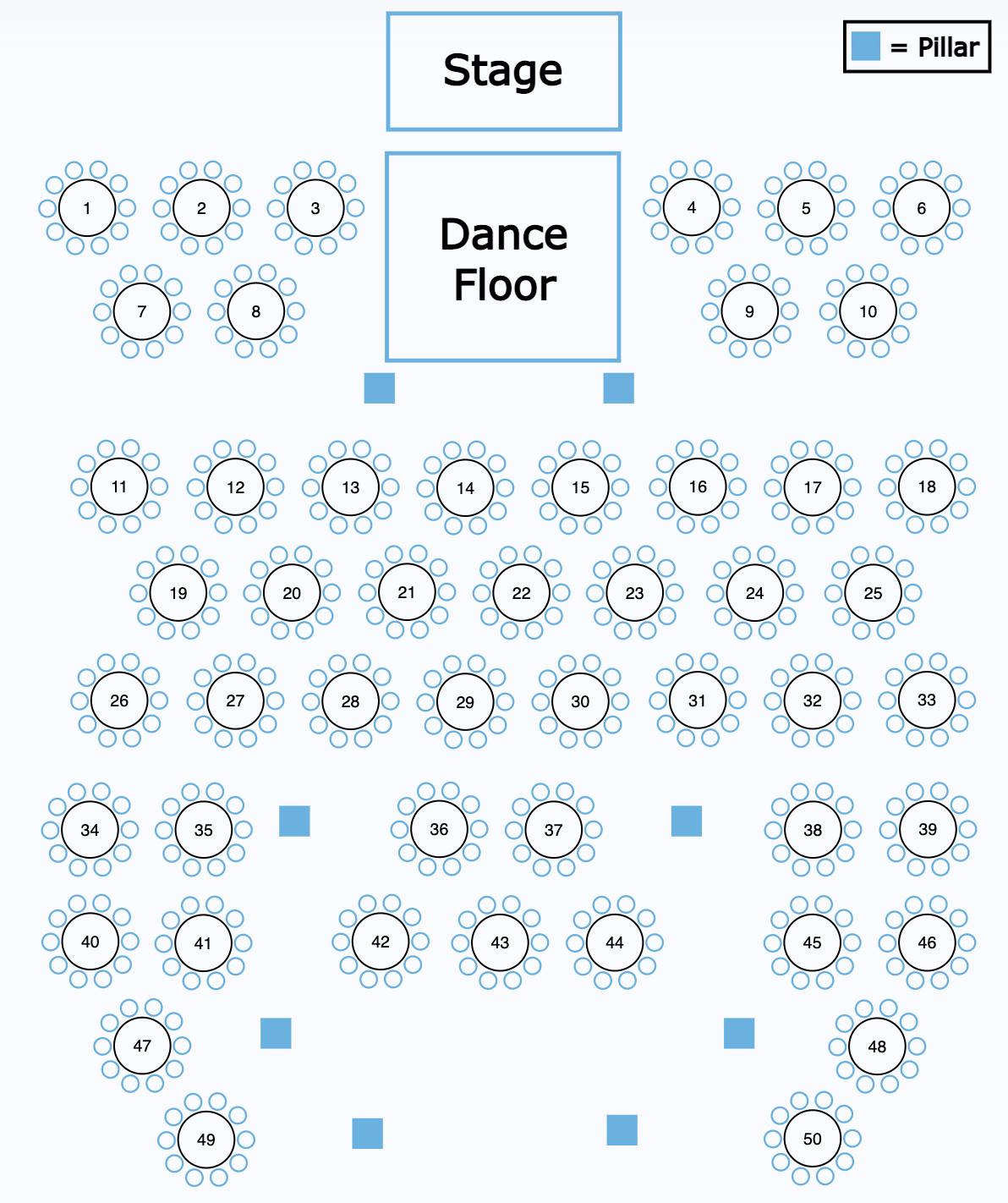 Southfork Seating Chart