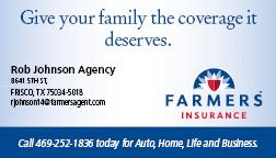 Rob Johnson Farmers Insurance sponsor