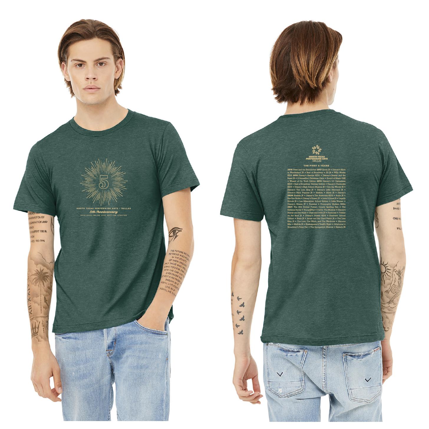 Dallas 5th Anniversary T-Shirt adult mock up